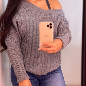 Charlotte Russe Gray knitted sweater